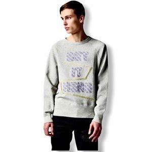 Acne Studios Get It Here College Patch Sweatshirt